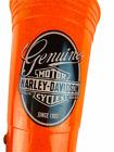 Harley Davidson Logo Cold Beer Cup Orange 16 oz Tumbler Man Cave Barware Gift
