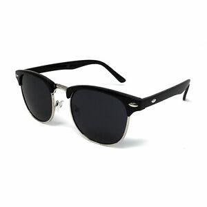 POLARISED 1950s Sunglasses Mens Womens Ladies Retro Black Driving UV Cycling UK