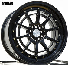 Aodhan Ah04 17X9 5X100/114.3 Et35 Black Rims Fits Lexus Is250 Is300 240Sx Tc Xb