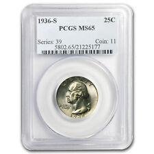 1936-S Washington Quarter MS-65 PCGS