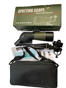 Gosky Porro Prism Spotting Scope -20-60 X 80 W/ Tripod, Case & Phone Adapter. FF