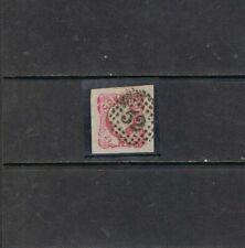 Portugal-1856-58 25rs carmim rosa, D. Pedro V. 52-Porto, Luxo