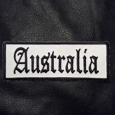 Leather Vest Jacket Biker AUSTRALIA PATCH Leather Vest Sew/Iron Motorcycle
