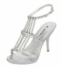 Open Toe Medium (B, M) Synthetic 5.5 Heels for Women