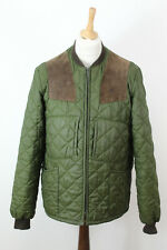 BARBOUR Keeperwear Olive Quilted Jacket size M