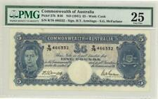 Australia 5 Pounds Currency Banknote 1941 PMG 25 VF