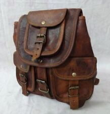 New S TO L Genuine Leather Back Pack Rucksack Travel Bag For Men's and Women's.