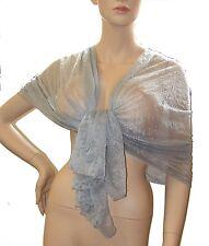 SCIARPA FOULARD Stola collezione donna coprispalle Tinta Unita grigio