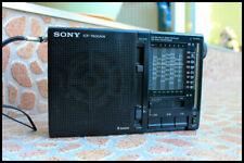 Sony ICF-7600AW Portable Transistor Radio Receiver FM MW SW 9 Band Working