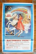 David Smart's Circus Battersea Park British Railways BR Original Railway Poster