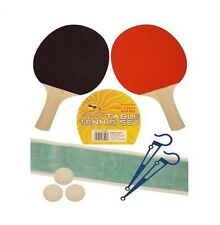 Table Tennis Ping Pong Complete Starter Set Kit 2 Bat Paddles Ball Net Pole HB