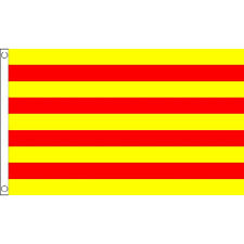 Catalonia Flag 5Ft X 3Ft Spain Spanish Region Banner With 2 Eyelets New
