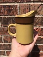 Modern China & Table Institute Stoneware Creamer Pitcher Desert Sand 1960s