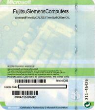 MS Windows 2003 Terminal Server 5 Cals OEM User (RDS) für Server R1+R2