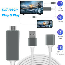 1080P HDMI Cable Video Converter HDTV Phone to TV Adapter For iPhone/Samsung/PC