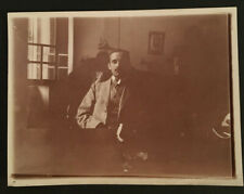 Vintage Unusual B&W Selfie? Photo of Business Man in Suit at His Desk #4080