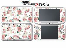 Flowers Roses Pink White Art Wallpaper Video Game Decal Skin New Nintendo 2DS XL