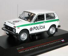 IXO/est Models, ist118, Lada Niva BOURRICOTS, police Slovaquie, 1993, 1/43,vaz 2121