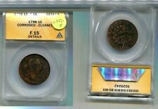 F 12 Graded Draped Bust Large Cents (1796-1807)