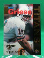 1995 Titans #T5 Bob Griese HOF INSERT Miami Dolphins / Purdue Signature Rookies