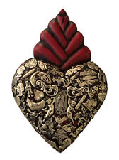 New ListingMexican Milagros Heart, Red Sacred Heart 8.5� Virgin Guadalupe