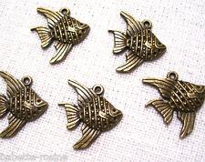 049 - LOT de 5 POISSONS Bronze **20 x 20 mm** CHARM / BRELOQUE / PENDENTIF