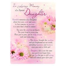 in Loving Memory Open Graveside Memorial Card - Special Daughter