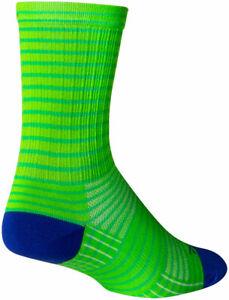 SockGuy Apple Stripes SGX Socks - 6 inch, Green, Large/X-Large