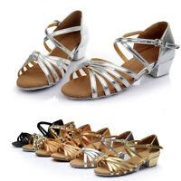 Children Girls Kids Shoes Ballroom Heeled Salsa Tango Latin Dance Shoes Sander