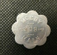 MCCOY 309 MAIN GOOD FOR 5 CENTS IN TRADE TOKEN!    e1425DHQ