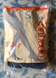 Silkies ~ 1 Pair Women's Pantyhose Opaque Panty Hose 050327 Dark Navy ~ Large