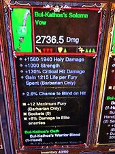 Diablo 3 Primal ancienne Bul kathos serment Barbarian weapon set patch 2.5 PS4