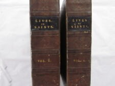 Lives of Saints by Rev Alban Butler 1833 in Two Volumes I & II Antique Book Good