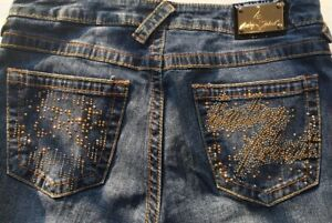 Baby Phat Jeans Women's Size 6 Low Rise Medium Wash Authentic!!