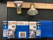 Set of 4 SYLVANIA LARGE INDOOR/OUTDOOR HALOGEN 50W BULB 2.5""