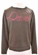 DIESEL Mens Sweatshirt Jumper Large Brown Cotton  MF11
