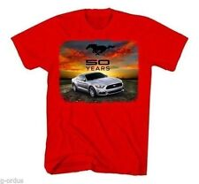 BRAND NEW 2015 FORD MUSTANG 50th ANNIVERSARY SHIRT IN RED AND SIZE LARGE OR XL!