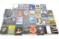 30x Bulk Lot Vintage Cassette Tapes 70's 80's 90's Mixed Rolling Stones B52's eg