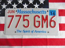 US MASSACHUSETTS 775 GM6 Auto Car Kennzeichen Nummernschild Schild Plate of USA
