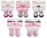 Baby/ Baby Mädchen Socke & Stirnband Set~Prinzessin & Mary Jane Stile 0-12 Monat
