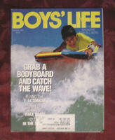 BOYS LIFE Scouts August 1990 Bodyboarding Hydroplanes Seymour Reit Ernie Colon