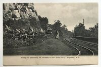 NJ Postcard Vintage Trolley Edgewater Descending Palisades to 130th St Ferry UDB