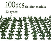 100 pcs Military Playset Plastic Toy Soldiers Army Men 3.8cm Figures