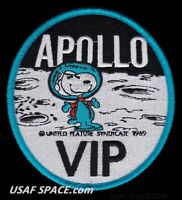 "SNOOPY - APOLLO VIP - NASA - 4"" - BLUE BORDER - SPACE PATCH - MINT *****"