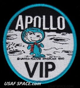 "APOLLO VIP SNOOPY - NASA - 4"" - BLUE BORDER - SPACE PATCH - MINT *****"