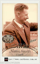 1996 Select AFL Hall Of Fame Team Of The Century Platinum TC1 Norm Smith