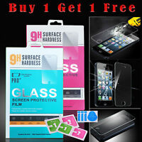 100% Genuine Clear Tempered Glass Screen Protector for Apple iPhone SE / 5S / 5