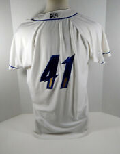 2019 Omaha Storm Chasers #41 Game Used White Jersey OSC0053
