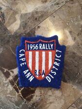 1956 Rally Cape Ann District Boy Scout Felt Patch Massachusetts BSA Flap First