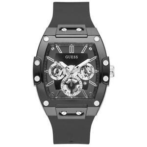 Mens Wristwatch GUESS PHOENIX GW0203G3 Multifunction Silicone Black